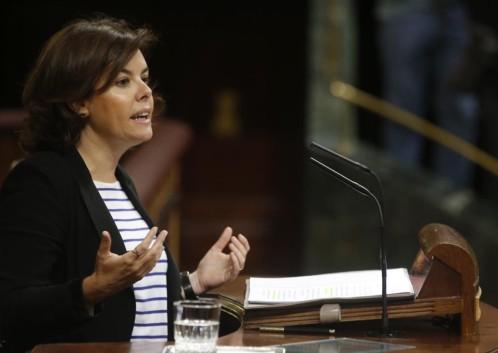 S. Santamaría rechaza que los independentistas puedan dar lecciones de democracia
