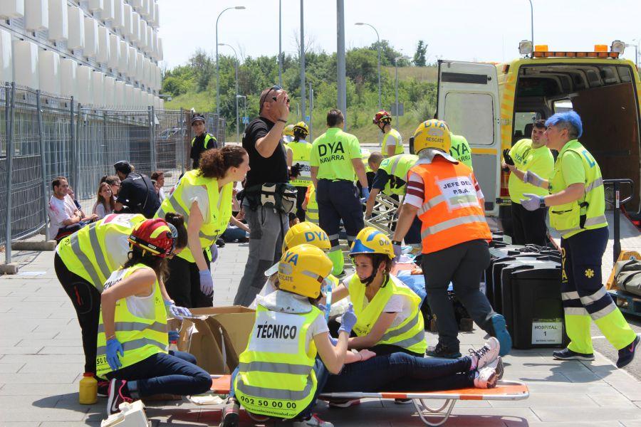 Un simulacro de atentado terrorista atiende a 50 heridos en El Sadar