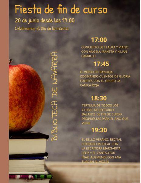 AGENDA: 20 de junio, en Biblioteca de Navarra, Fiesta fin de curso con música y actividades