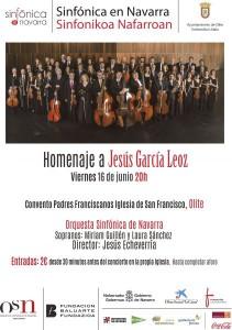 AGENDA: 16 de junio, en Olite (Navarra), Orquesta Sinfónica homenaje a Jesús García Leoz