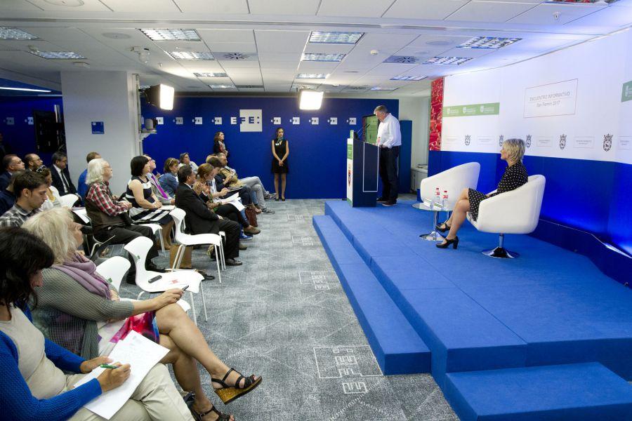 Más de 65 medios de comunicación españoles e internacionales participan en Madrid en la jornada sobre la imagen de los Sanfermines