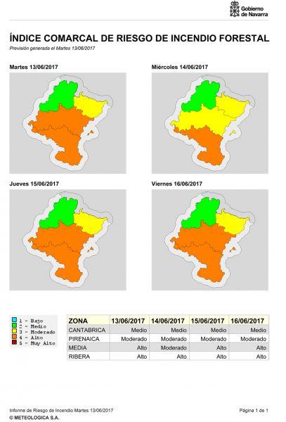 El Gobierno de Navarra llama a evitar incendios forestales