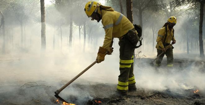 Controlado el incendio del entorno de Doñana