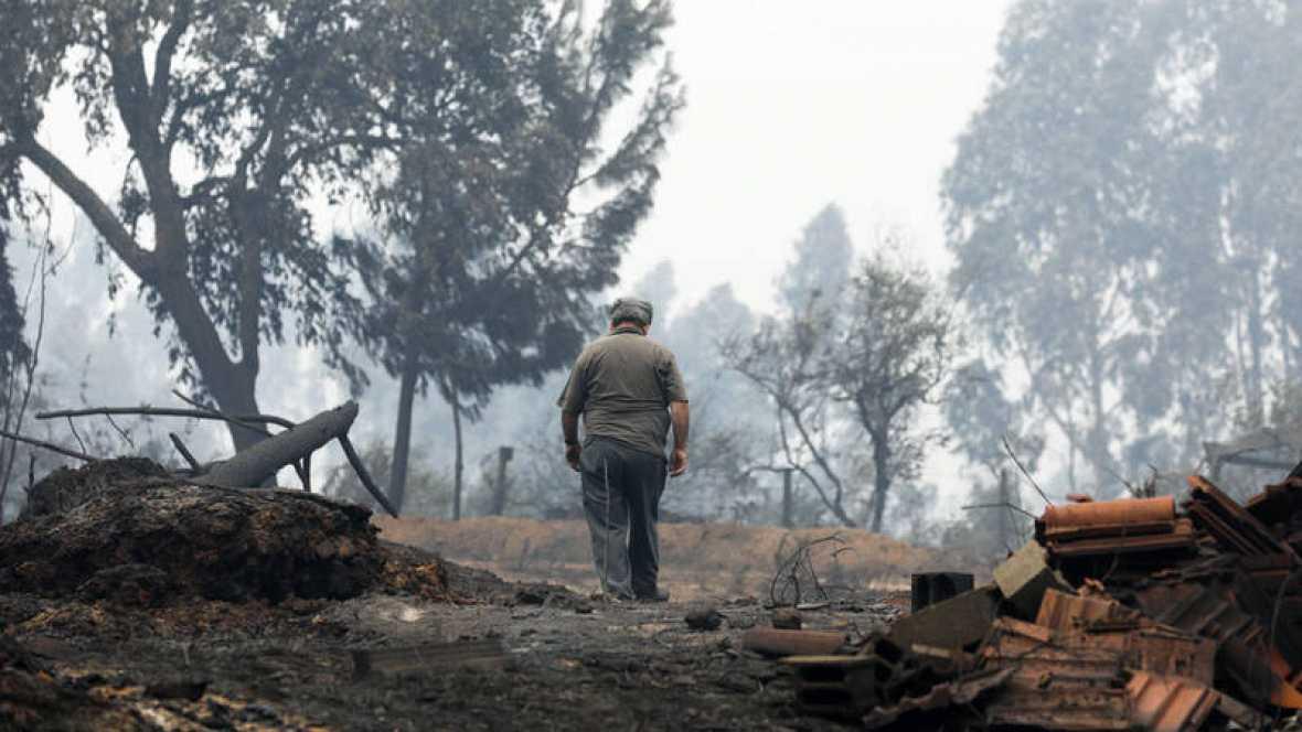 Los bomberos controlan las llamas en Góis, último foco del incendio de Portugal