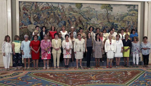 La Reina recibe en La Zarzuela a un colectivo de mujeres de Cintruénigo