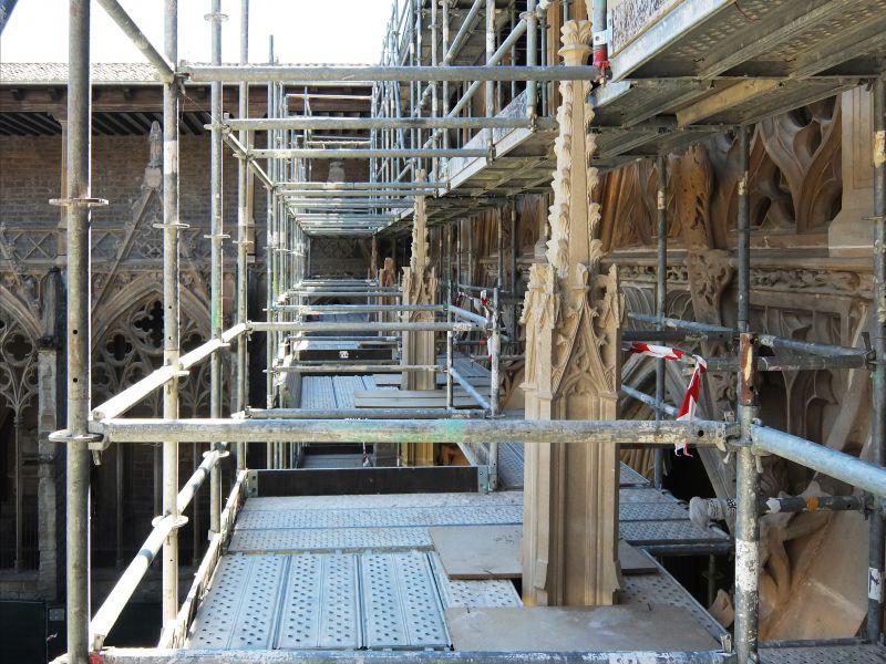Visitas guiadas a la restauración del claustro de la Catedral de Pamplona