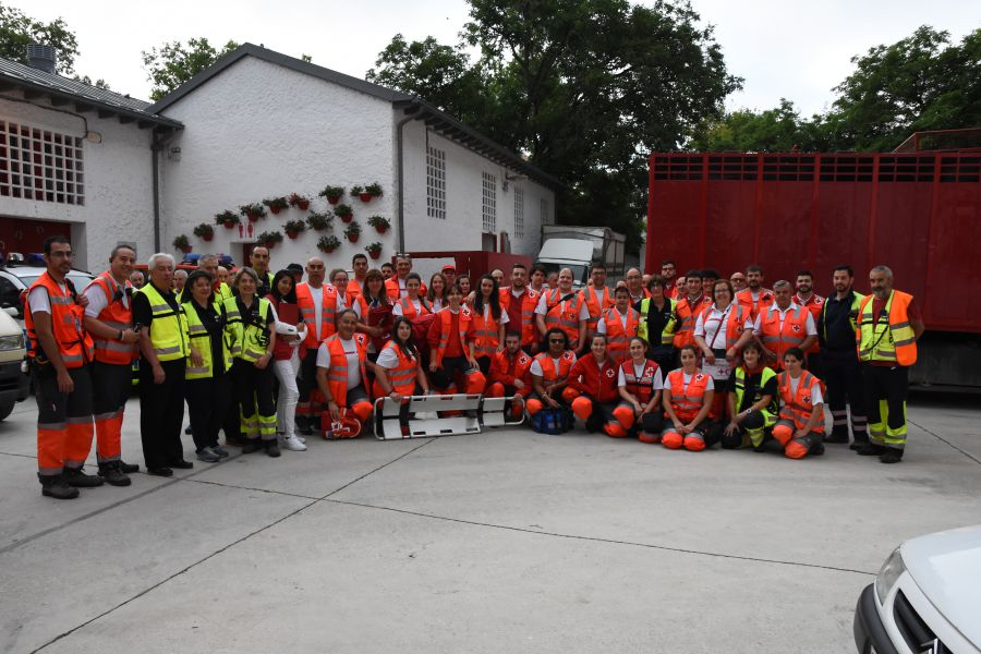 57 personas atendidas por Cruz Roja con 8 trasladadas a centros de urgencia