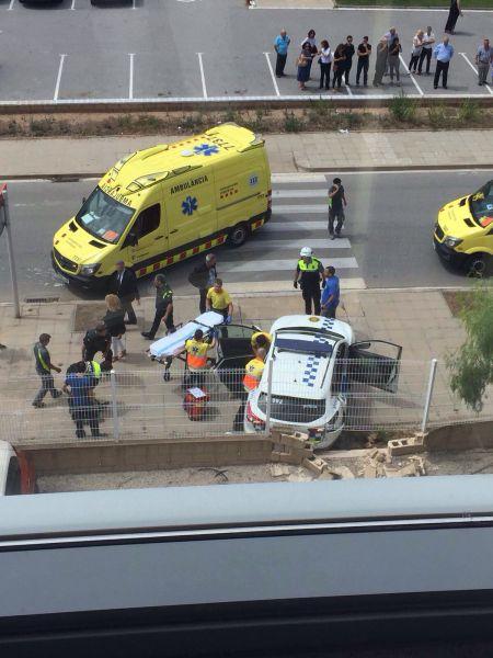 Detenido un hombre que hiere a dos policías en Barcelona