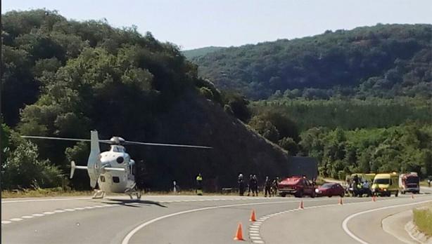 Tres ciclistas heridos, uno grave, tras una caída en Zúñiga