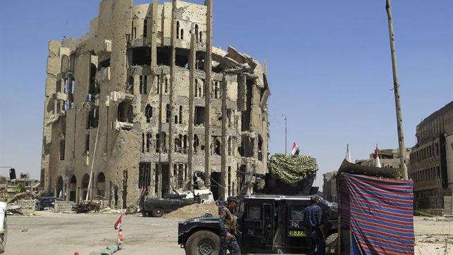Los últimos yihadistas del EI todavía se esconden en el casco antiguo de Mosul
