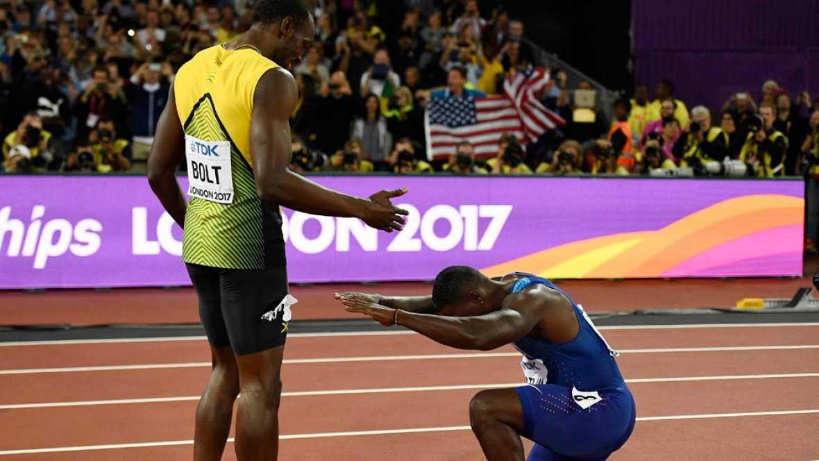 Gatlin y Coleman derrotan a Bolt en el último 100 del gran ídolo