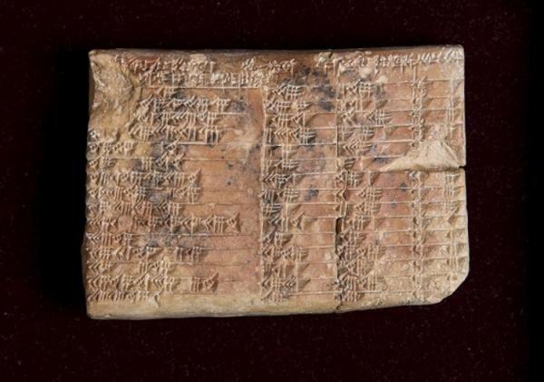 Una tablilla con 3.700 años desvela algunos secretos matemáticos de los babilonios