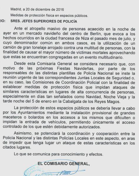 carta a los mossos