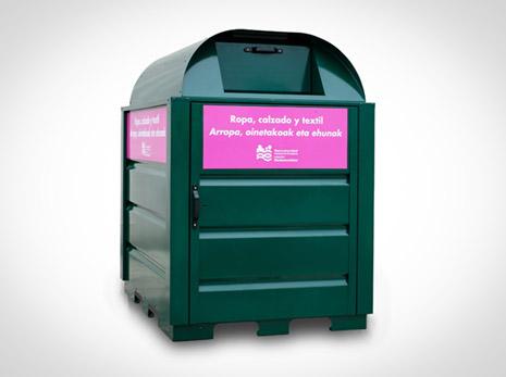 MCP pone en uso un nuevo contenedor rosa para Pamplona y comarca