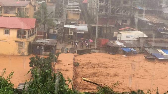 Más de 300 muertos por las lluvias torrenciales en Sierra Leona