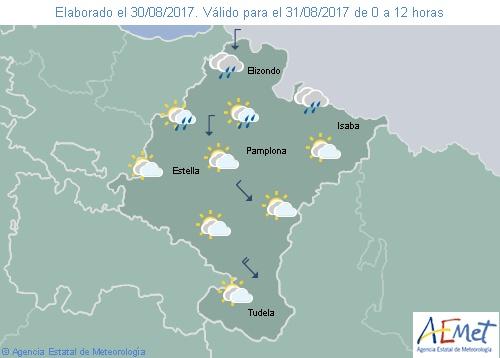 Hoy en Navarra disminuye la nubosidad con temperaturas sin cambios o ligero descenso