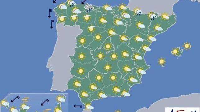 Persiste el calor en Canarias, el sur y el este, en Navarra nuboso con temperaturas en ascenso