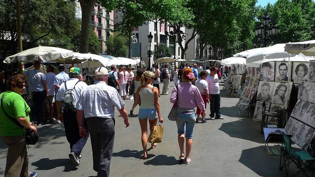La sensación de seguridad vuelve a las calles de Barcelona una semana después