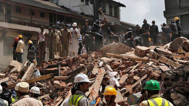 Al menos 33 los muertos y 16 heridos en derrumbe en Bombay