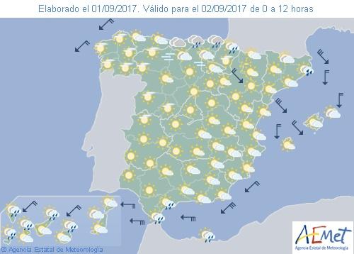 Probabilidad de chubascos en el norte de España y cielo poco nuboso en el resto