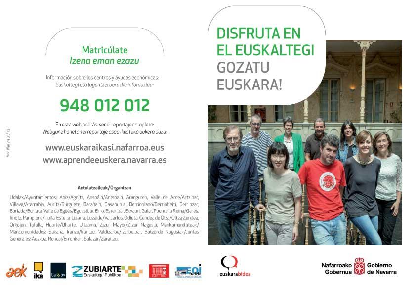 El Gobierno de Navarra y 32 entidades locales presentan una campaña conjunta de 'euskera'