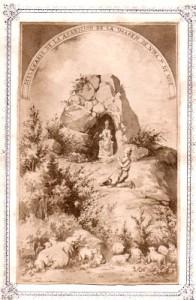 Estampa conmemorativa del milenario de la aparición de la Virgen de Ujué