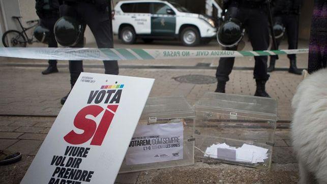Incautan en Igualada 2,5 millones de papeletas, 4 millones sobres y 100 urnas