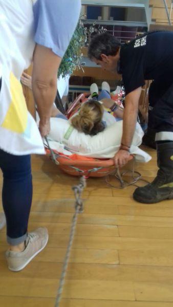 Los bomberos tienen que intervenir en una residencia geriátrica en Mendavia al averiarse el ascensor