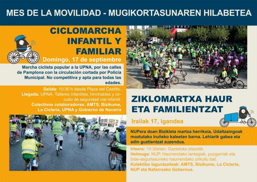El Ayuntamiento de Pamplona celebrará este domingo una marcha ciclista infantil y popular