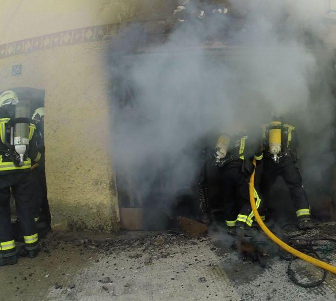 Un incendio en una vivienda de Caparroso causa importantes daños