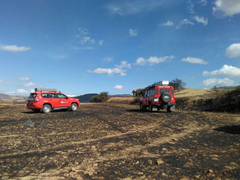 Un incendio afecta a 14,5 hectáreas de rastrojo y matorral en Alloz