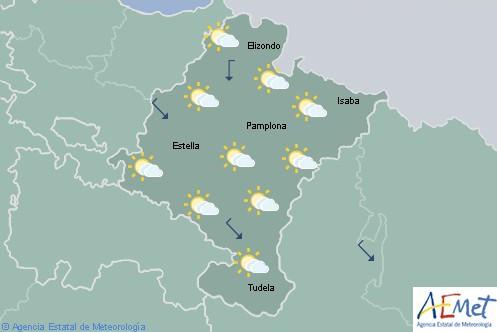 Hoy en Navarra desciende la nubosidad con temperaturas máximas sin cambios