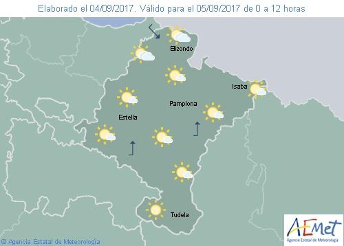 Hoy en Navarra cielo poco nuboso o despejado y temperaturas en ascenso