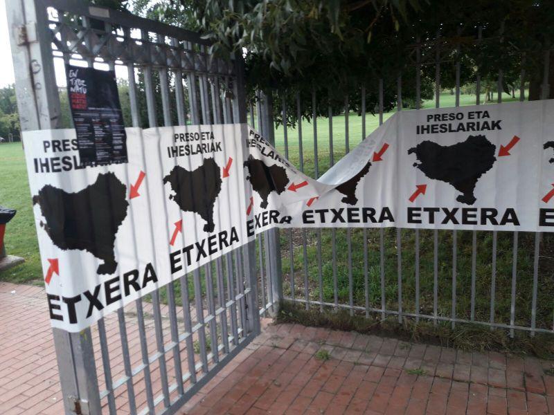 UPN reclama que se retiren pancartas vinculadas con presos de ETA en Mendillorri