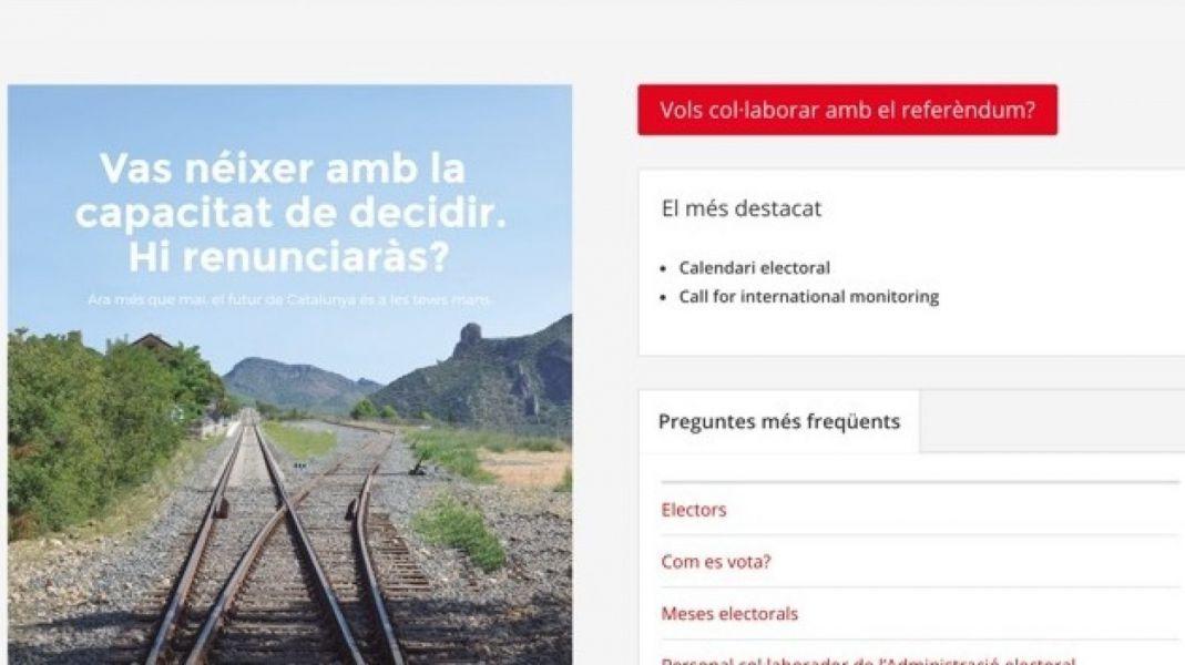 Un juez cierra la web del referéndum catalán y Puigdemont ofrece enlaces alternativos