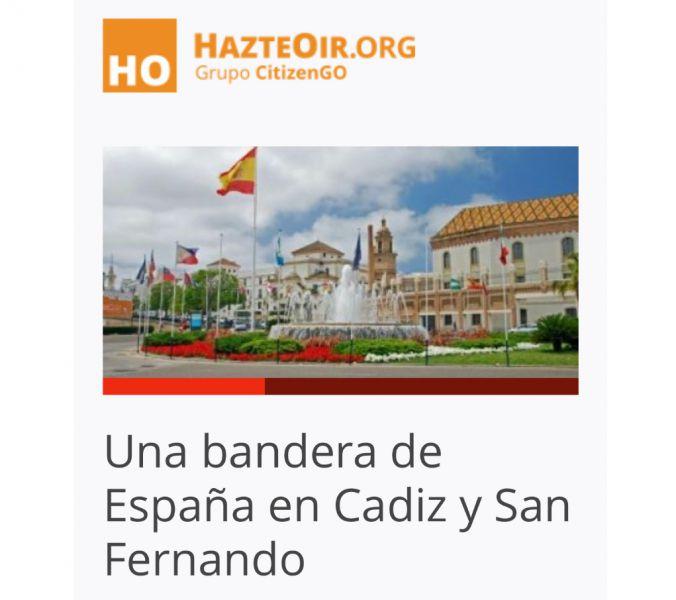 HazteOir inicia una campaña para instalar la bandera de España en la cuna del constitucionalismo español
