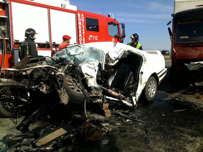Dos personas fallecidas por accidente de tráfico en el mes de marzo en Navarra