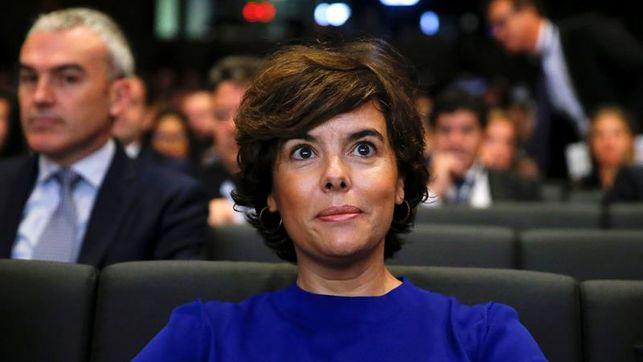"""S.Santamaría ve """"asustados"""" a los independentistas y apela a frenar a Puigdemont"""