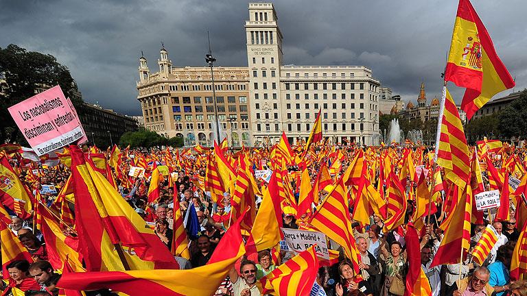 SCC convoca hoy una manifestación en Barcelona en defensa del 155 y la unidad de España