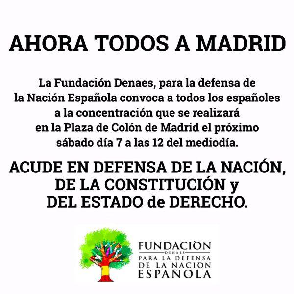 DENAES convoca una manifestación por la unidad de España en Madrid