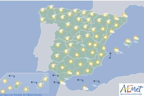 En España las temperaturas diurnas serán superiores a las habituales en esta época del año