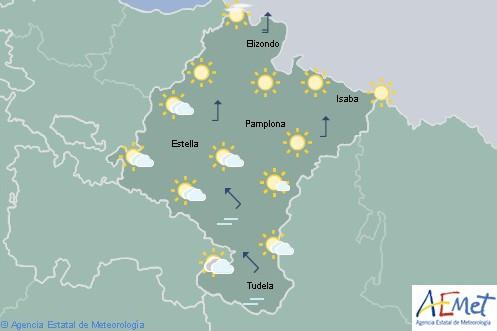En Navarra cielo despejado con intervalos de nubes altas