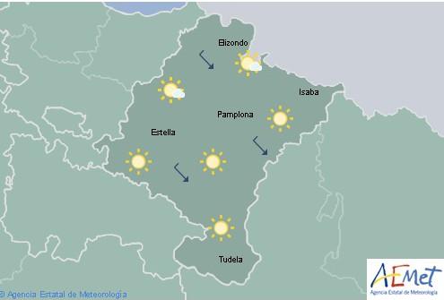 En Navarra poco nuboso o despejado con temperaturas sin cambios
