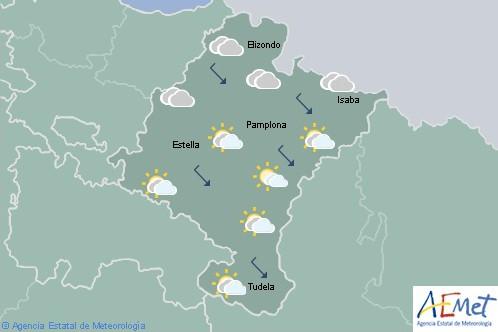 En Navarra cielo nuboso o cubierto con probables precipitaciones