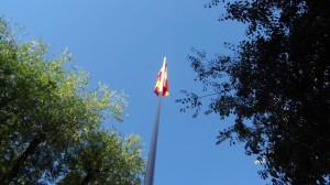 Izado de la bandera de España
