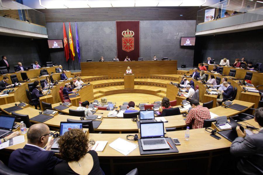 El Parlamento foral aborda mañana el cambio de nombre del grupo Podemos