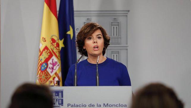 El Gobierno pide a la Generalidad que cese la farsa del 1-O que es irrealizable