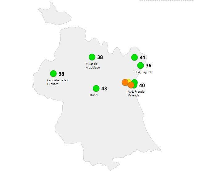 Valencia, a la cabeza de las provincias con peor índice de calidad del aire
