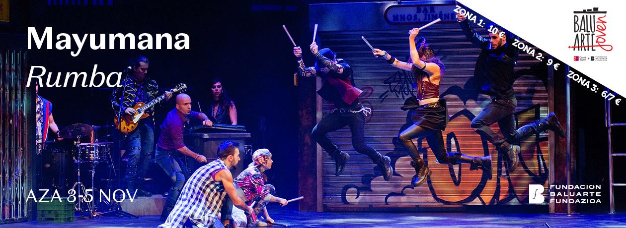 AGENDA: 3-5 de noviembre, en Baluarte, Mayumana presenta el espectáculo 'Rumba'