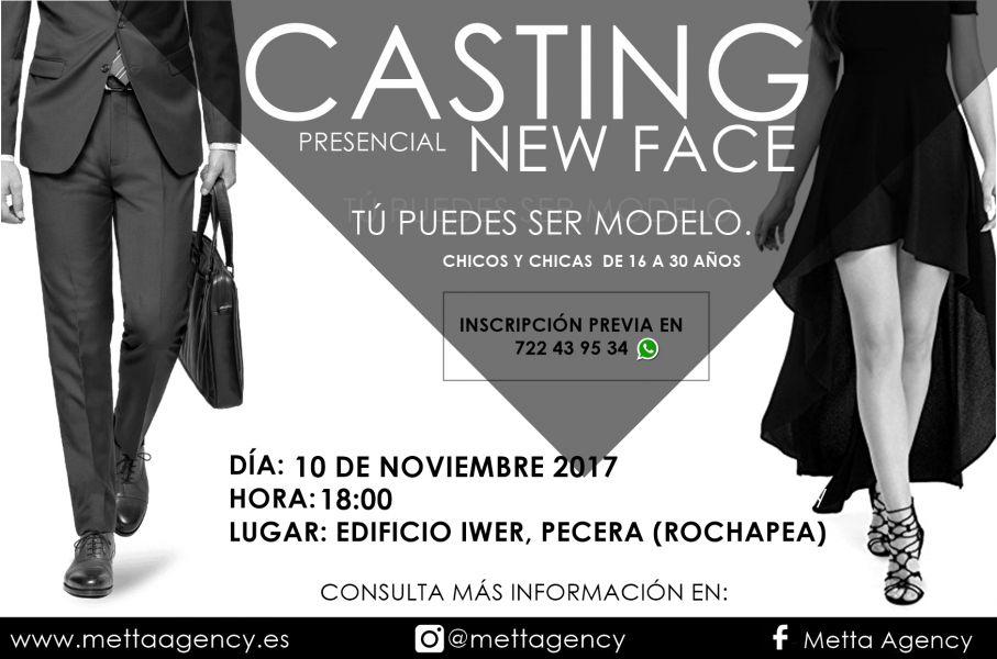 AGENDA: 10 de noviembre, en Rochapea, 'Casting New Face'